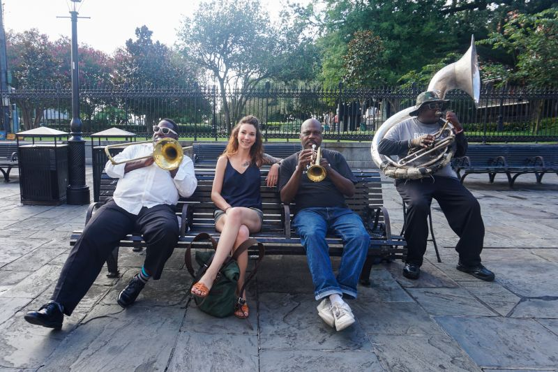 Listening to Jazz in New Orleans