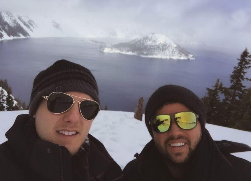 Selfie Atop 12 Feet of Snow in Oregon