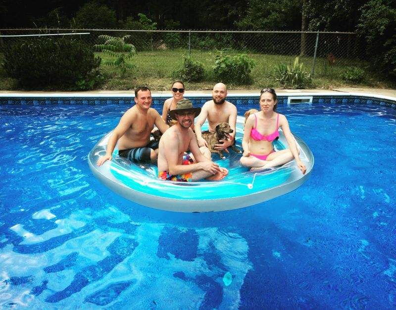 Fun in Our Pool With Family