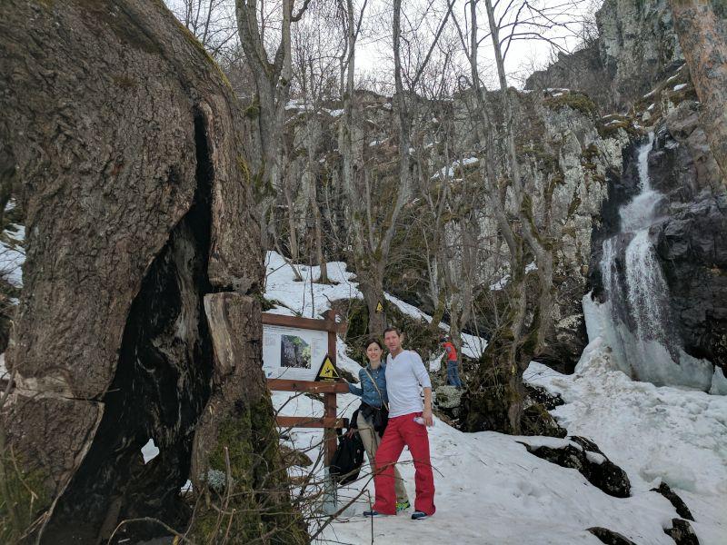 An Icy Waterfall Hike in Bulgaria