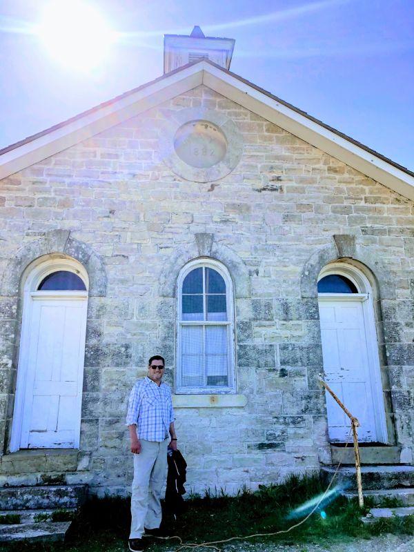 Kevin Exploring a Historic Schoolhouse on the Kansas Prairies