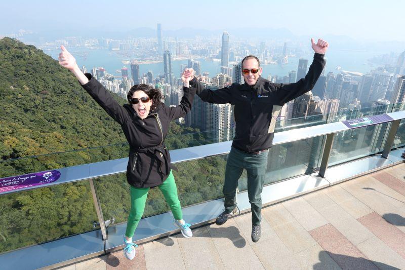 Jumping for Joy in Hong Kong