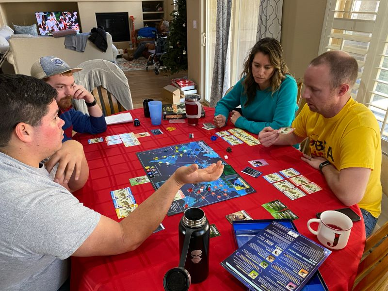 Playing a Game With Family