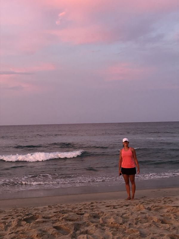 Stephanie at Her Favorite Place - the Beach!
