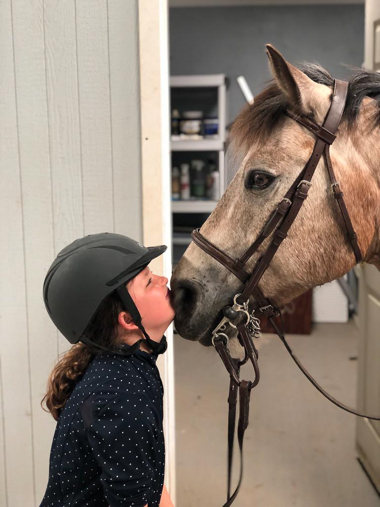Bailey Loves Her Horse