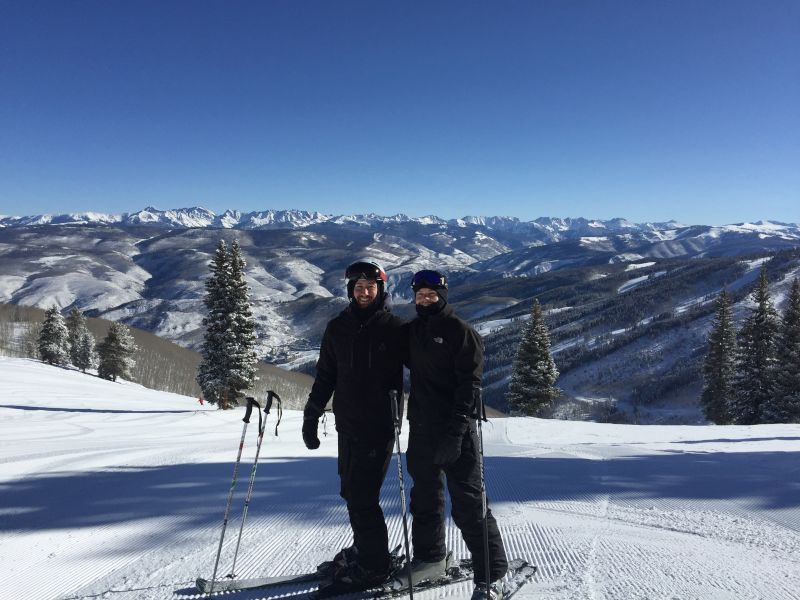 Lyle Skiing With His Best Friend