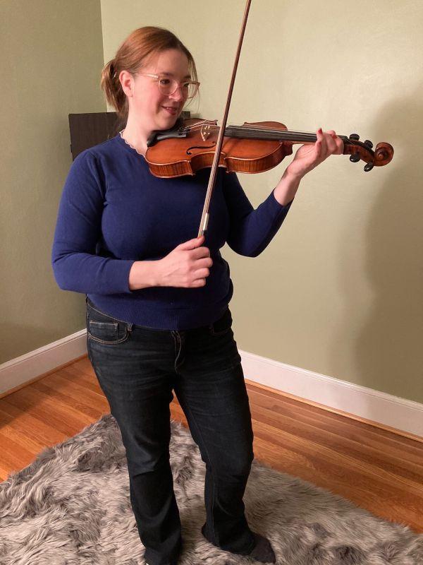 Johanna Practicing Violin