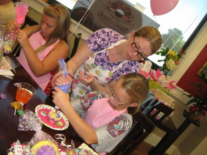Christy Teaching Cupcake Decorating