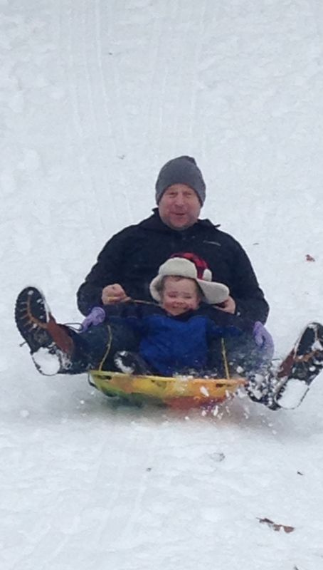 Sledding With Our Nephew