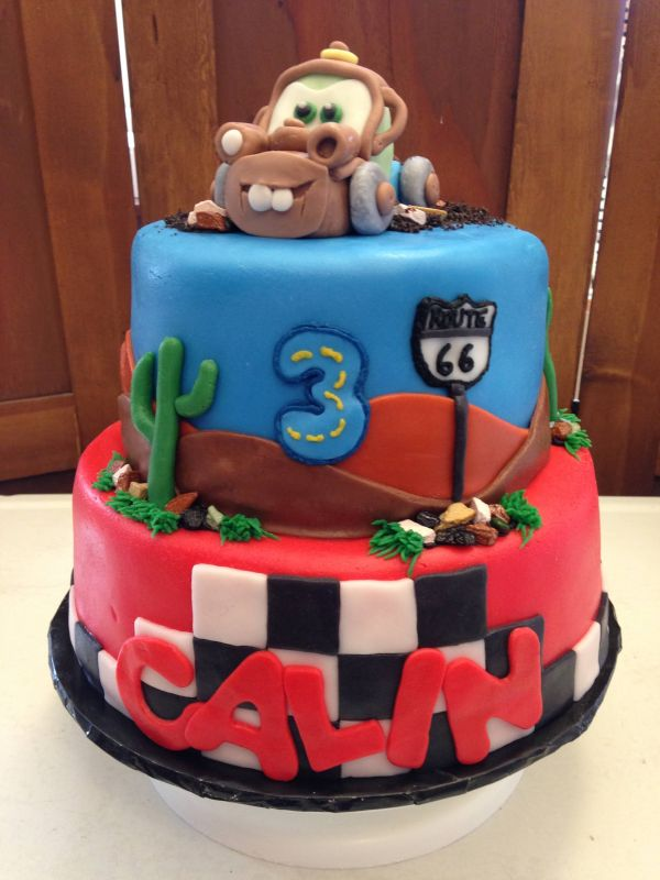 Cars Cake Made by Christy