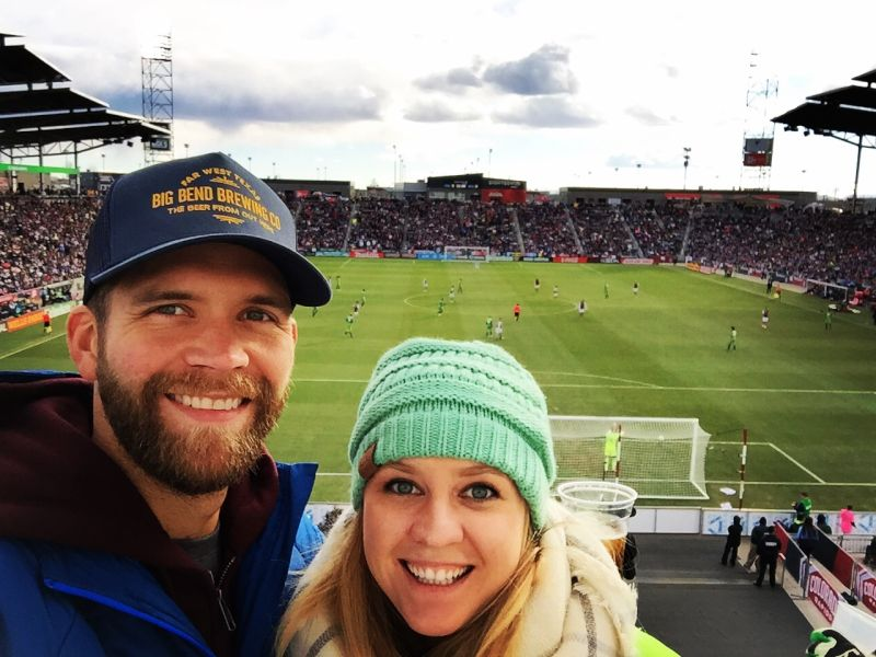 Having Fun Together at a Soccer Game