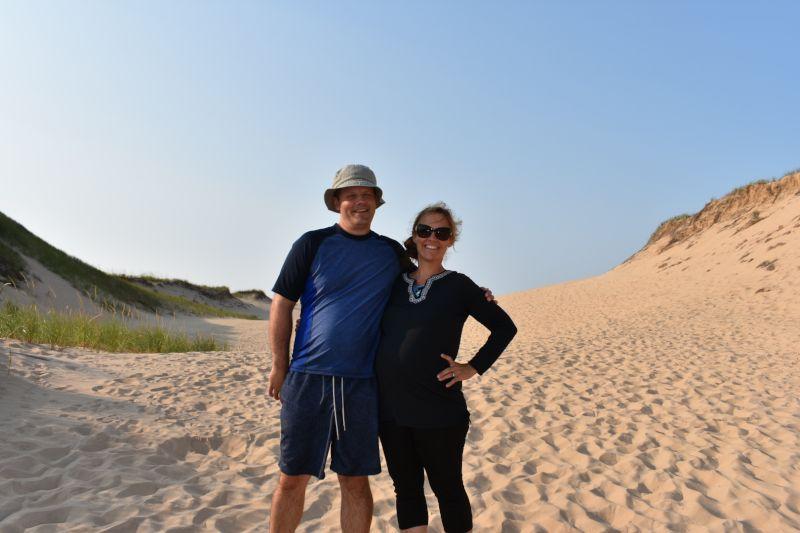 Having Fun Walking on the Sand Dunes