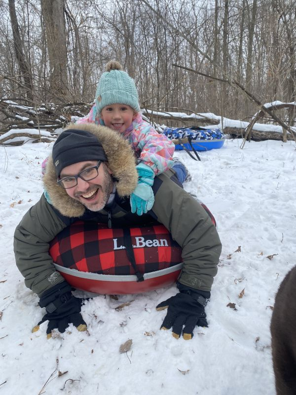 Snow Tubing With Our Niece