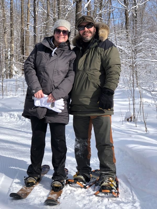 Snowshoeing in the Beautiful Northwoods