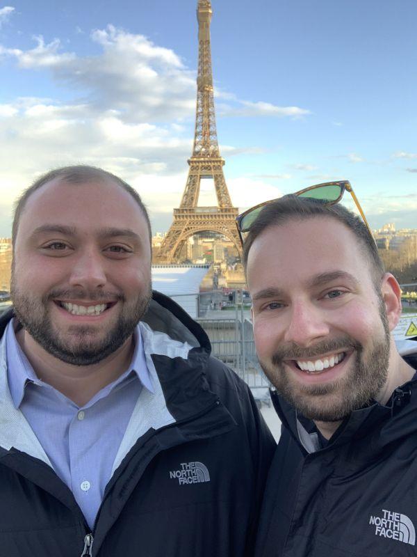 Enjoying the Eiffel Tower