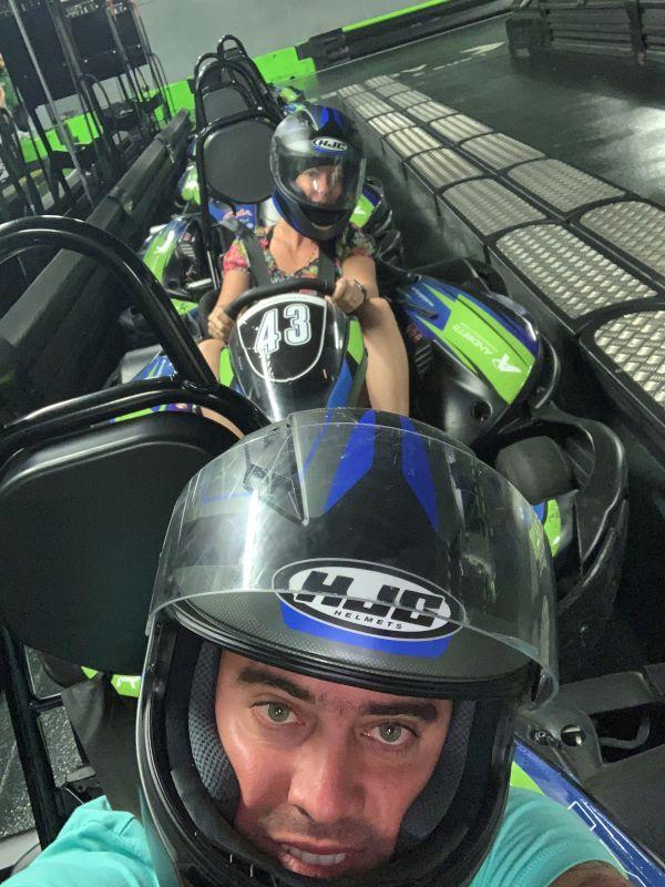 Having Fun in Go Karts