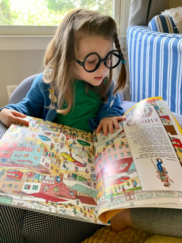Reading Where's Waldo, With Glasses to Match!