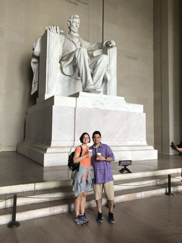 At the Lincoln Monument