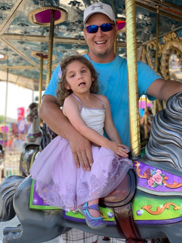 Carousel Ride With Daddy!