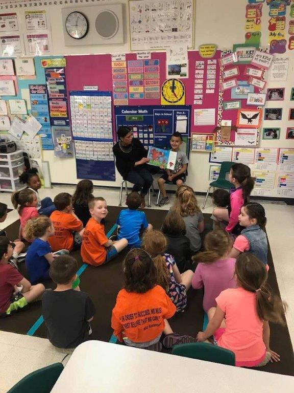 Amanda Reading to Brayden's Class