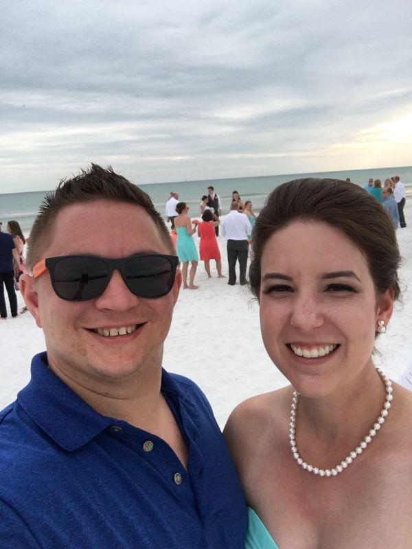 Celebrating at a Friends Beach Wedding!