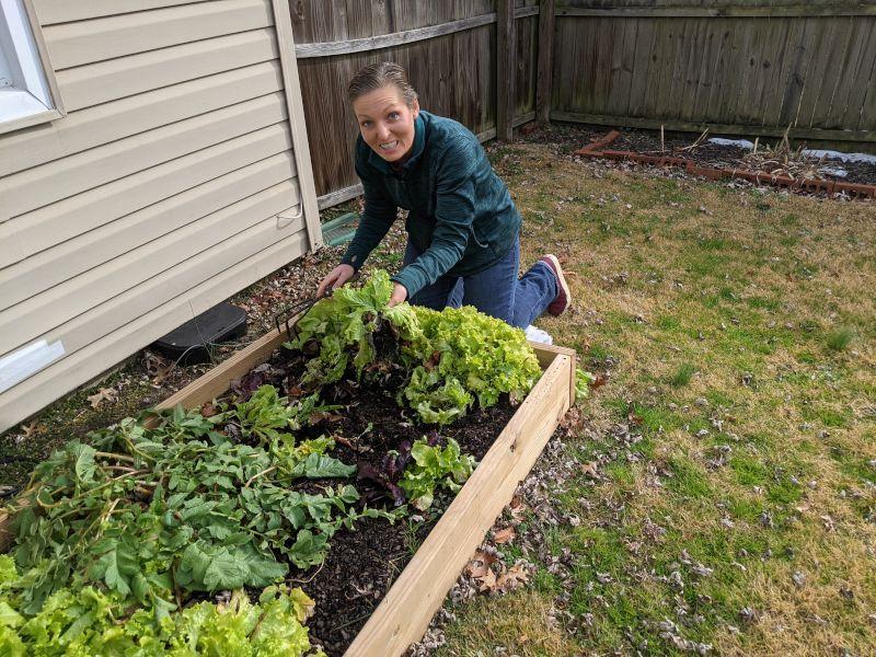 Terri in Her Garden