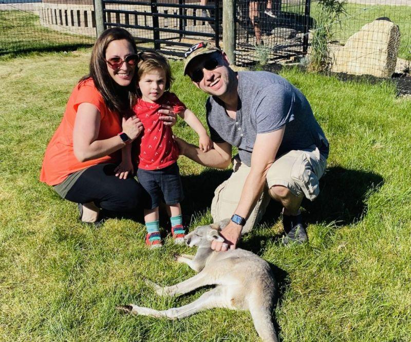 Introducing Nate to a Kangaroo