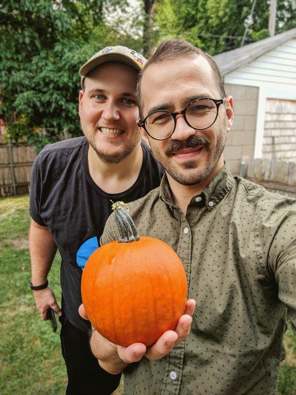 A Pumpkin From Our Garden
