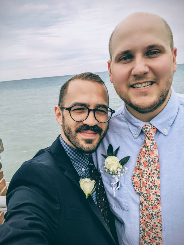 Stopping to See Lake Michigan While Attending Jordan's Brother's Wedding in Chicago