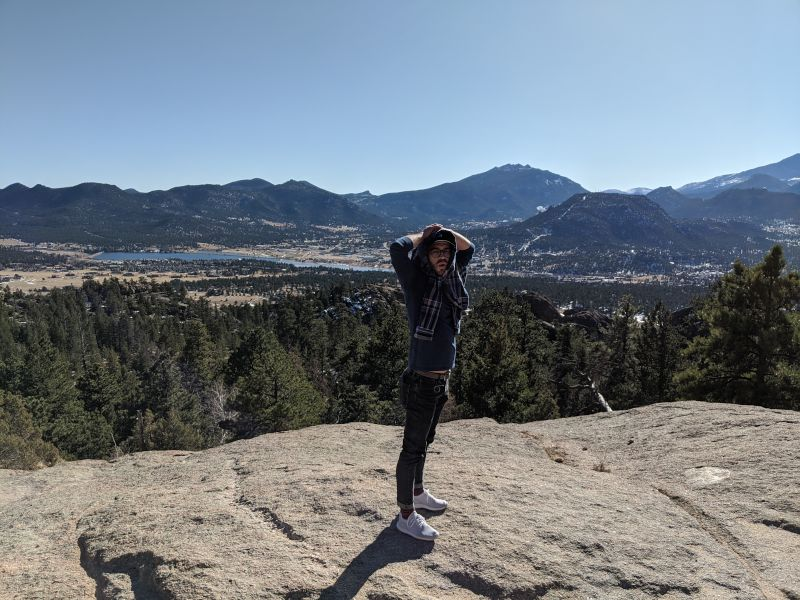 Nathan Checking Out the View From the Top During a Hike in Estes Park, Colorado