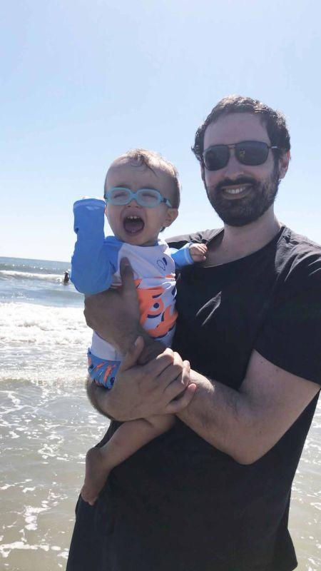 Robbie Conquering the Beach!
