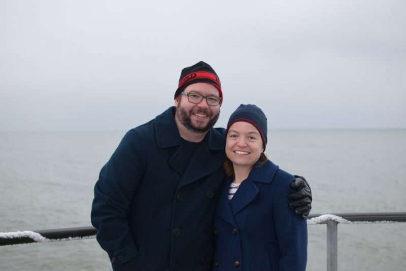 Exploring Lake Erie on a Cold Winter Day