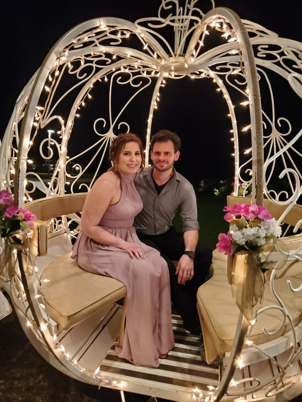 Cinderella Carriage at a Friend's Wedding