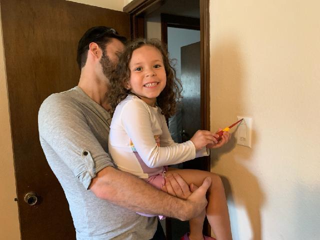 Ryan Teaching Our Niece DIY
