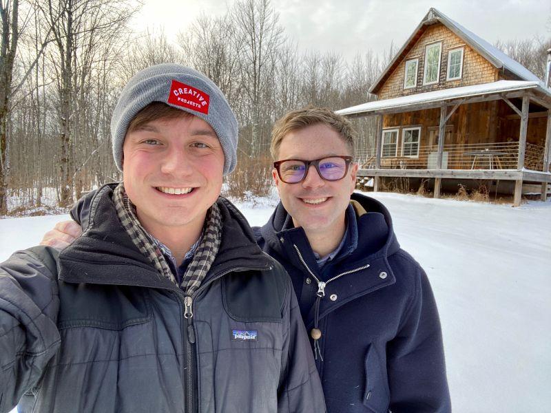 Outside a Friend's Cabin in the Winter