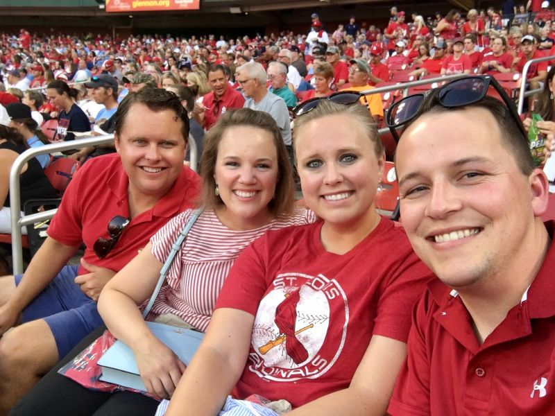 Baseball Game with Tyler's Sister and Her Husband