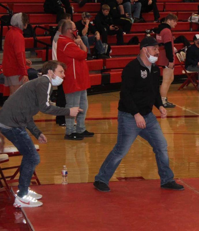 Dan Coaching Wrestling