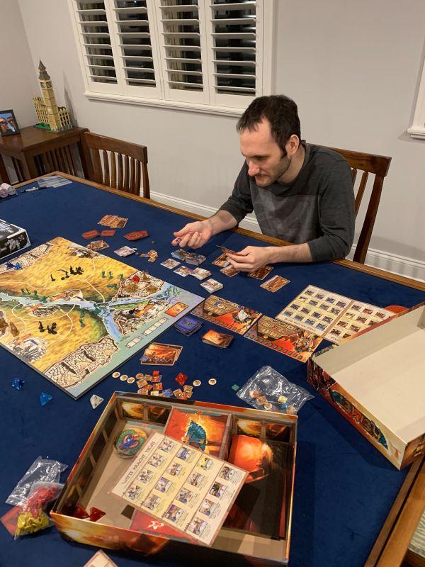 Gideon Playing a Board Game