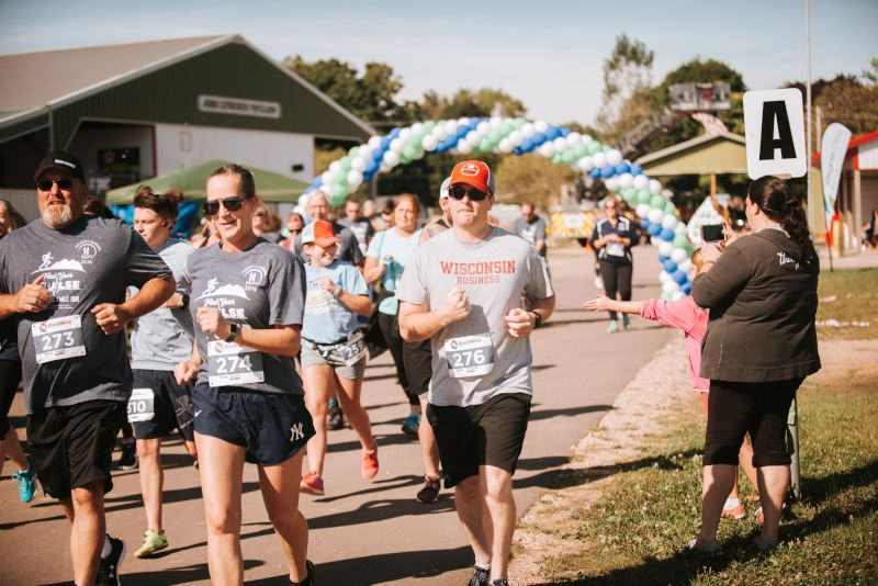 Mat Running a 5k Race