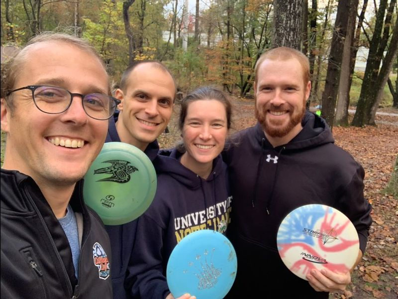 Disc Golf with Kelly's Family