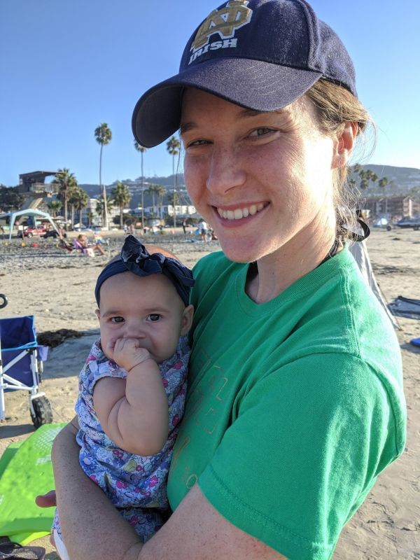 At the Beach with Aunt Kelly
