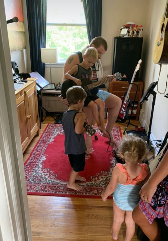 Our Nieces & Nephews Playing Guitar With Uncle Eric