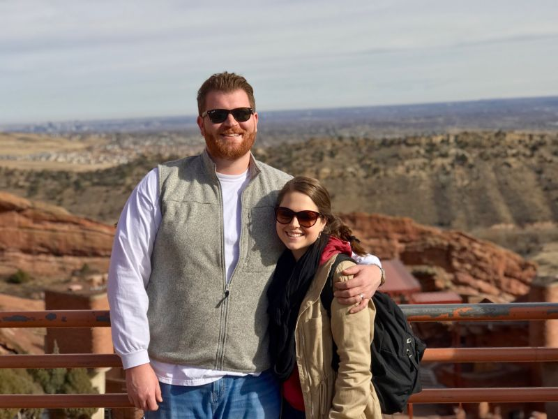 Enjoying the View of Red Rocks in Colorado
