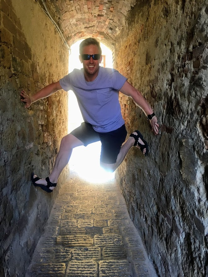 Andy Scaling Walls in Italy
