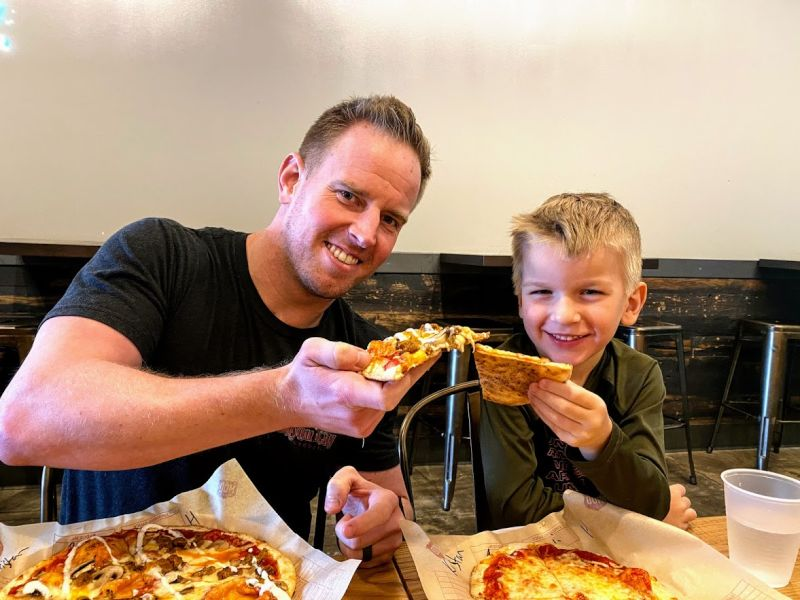 Pizza with Uncle Andy