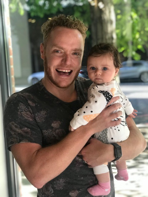 Johnathan With Baby Cru