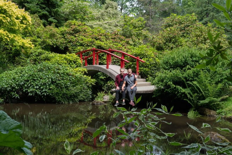 At the Japanese Gardens Near Our Home