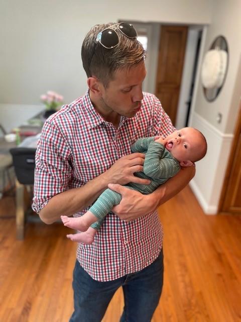 Joshua With Baby James