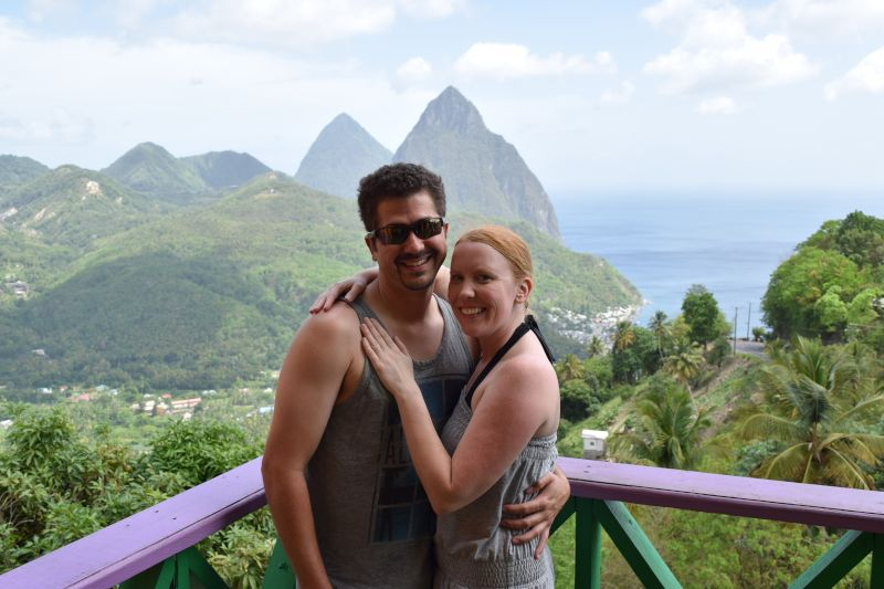 Enjoying the View in St. Lucia