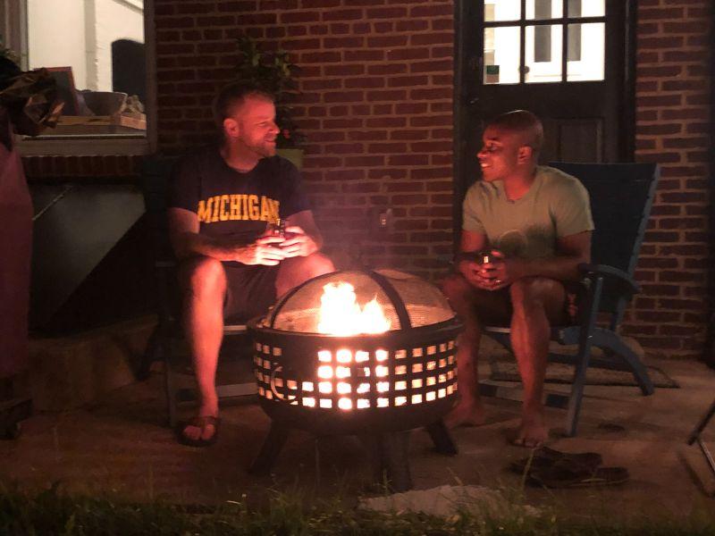 Talking Over a Backyard Fire